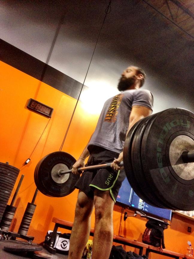 Ashwin warming up for Deadlifts. #trainirongrip