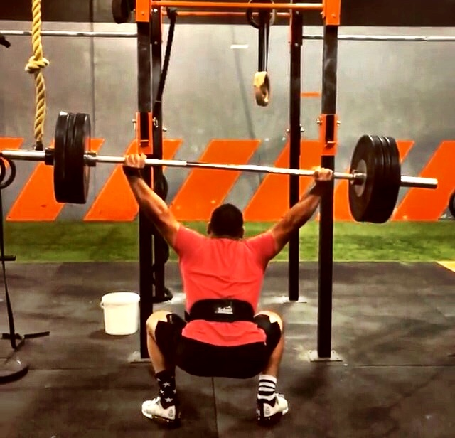 Drew Ramirez tossing 285# Overhead Squat like a rag doll... Straight Outta TeamIronGrip