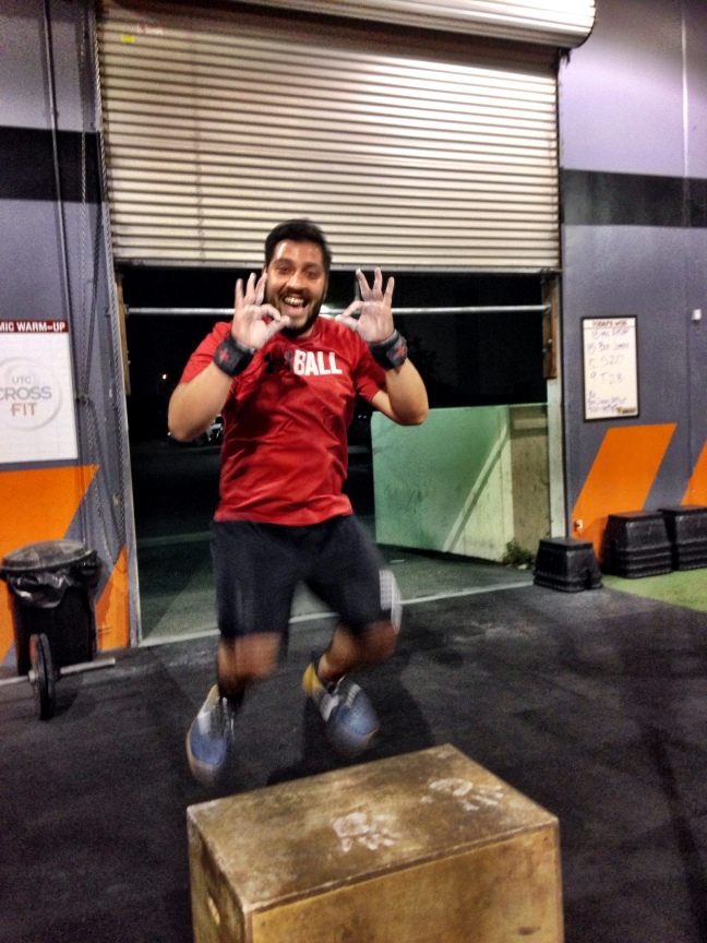 Jorge Mendoza having some fun with Box Jumps... If you don't enjoy what you do then why do it!