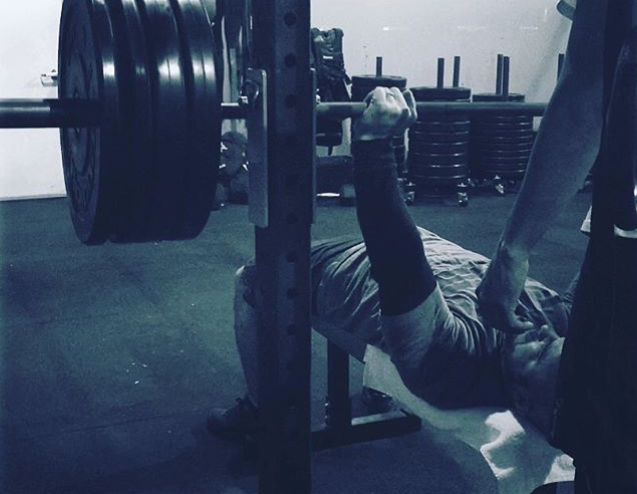 #ironwarrior athlete Tony Shaw hitting some heavy yet easy bench!! 305# for reps!!!